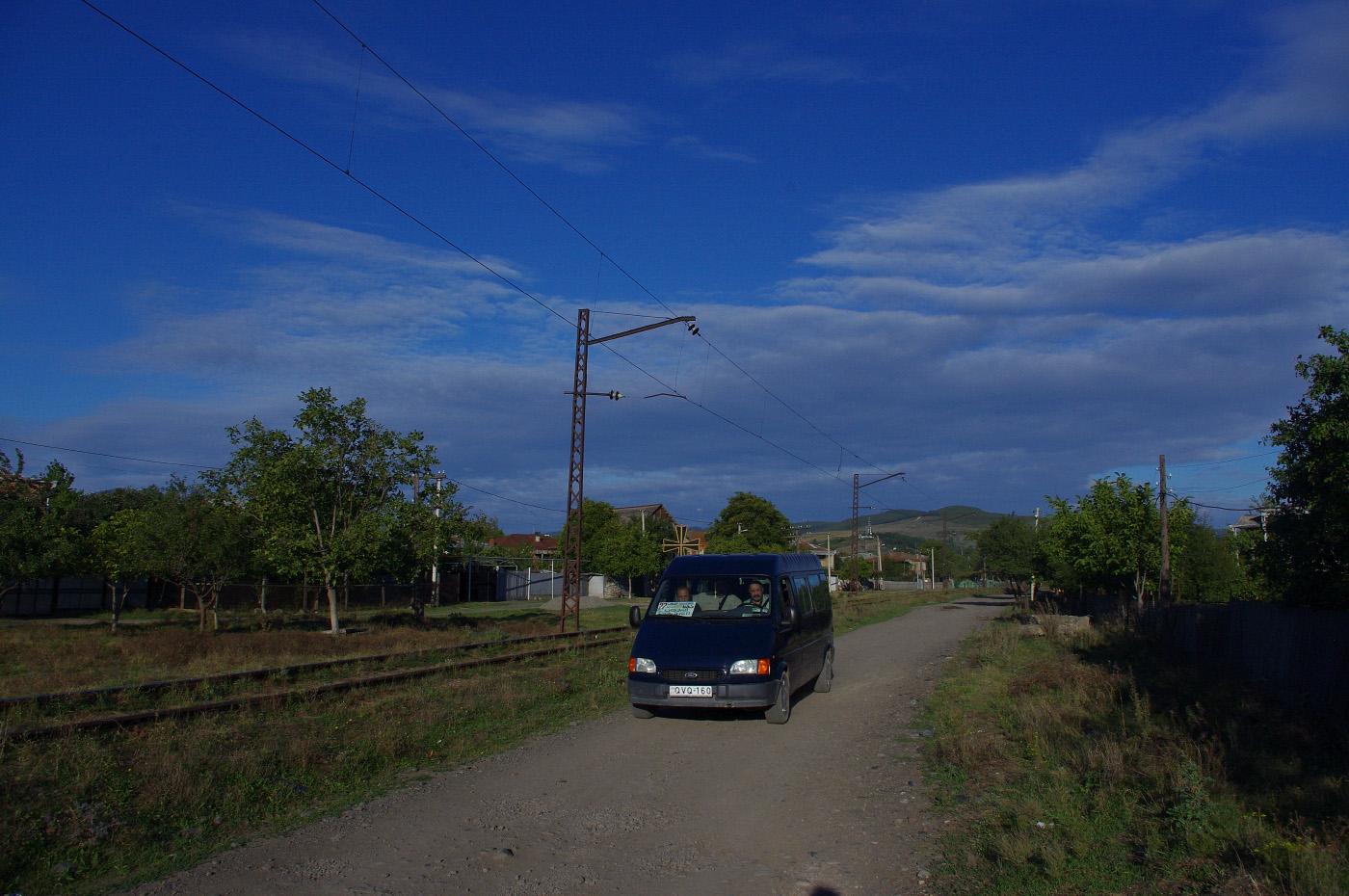 Мікроавтобус Ford Transit на маршруті №27. Грузія, Шида-Картлі, Хашурі