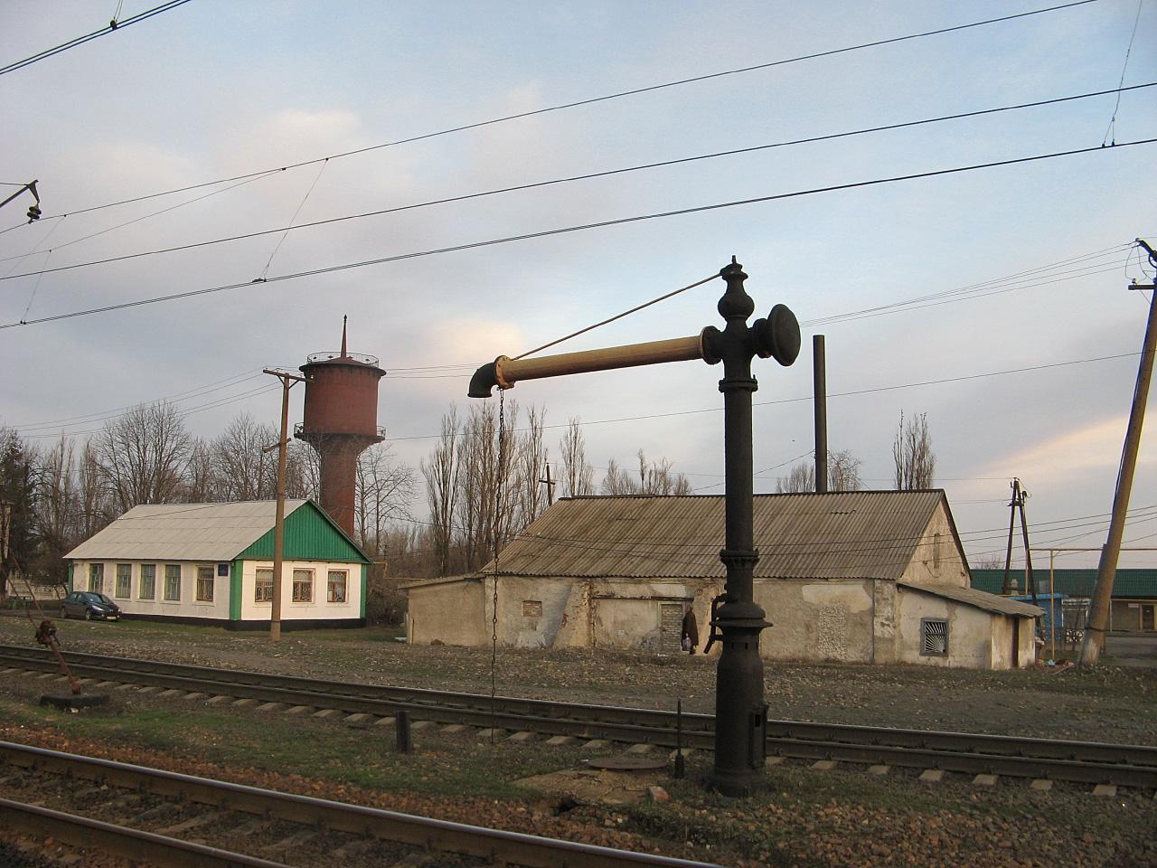 Паровозна колонка на станції Штерівка. Луганська область, Антрацитівський район