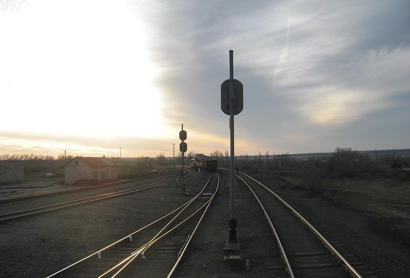 Станція Сільський, лінія Штерівка - Яновський. Луганська область, Антрацитівський район