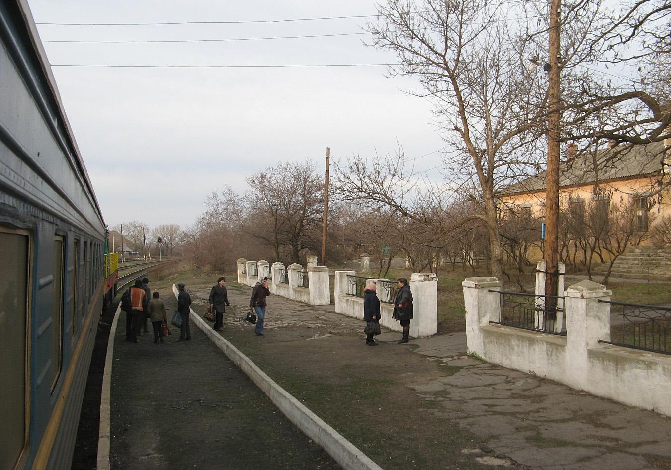 Станція Браунівка, лінія Штерівка - Яновський. Луганська область, Антрацитівський район