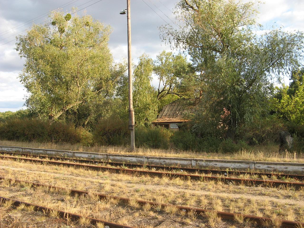 Колишня станція Ляплава, лінія Золотоноша - Ляплава. Чекраська область, Канівський район