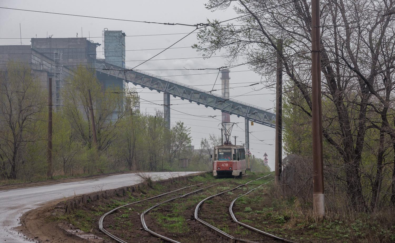 Трамвай КТМ-5 №478 на маршруті №9. Дніпропетровська область, Кривий Ріг