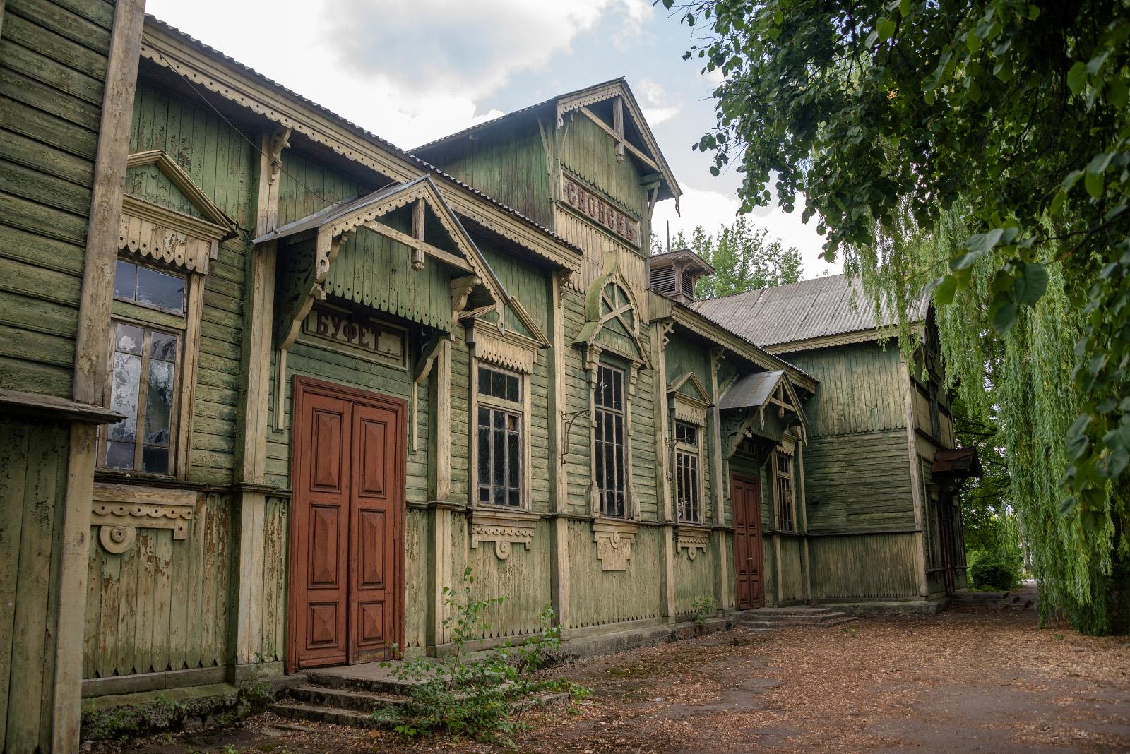 Павровозне депо, станція і колишній вокзал Сновськ. Чернігівська область, Сновський район, Сновськ