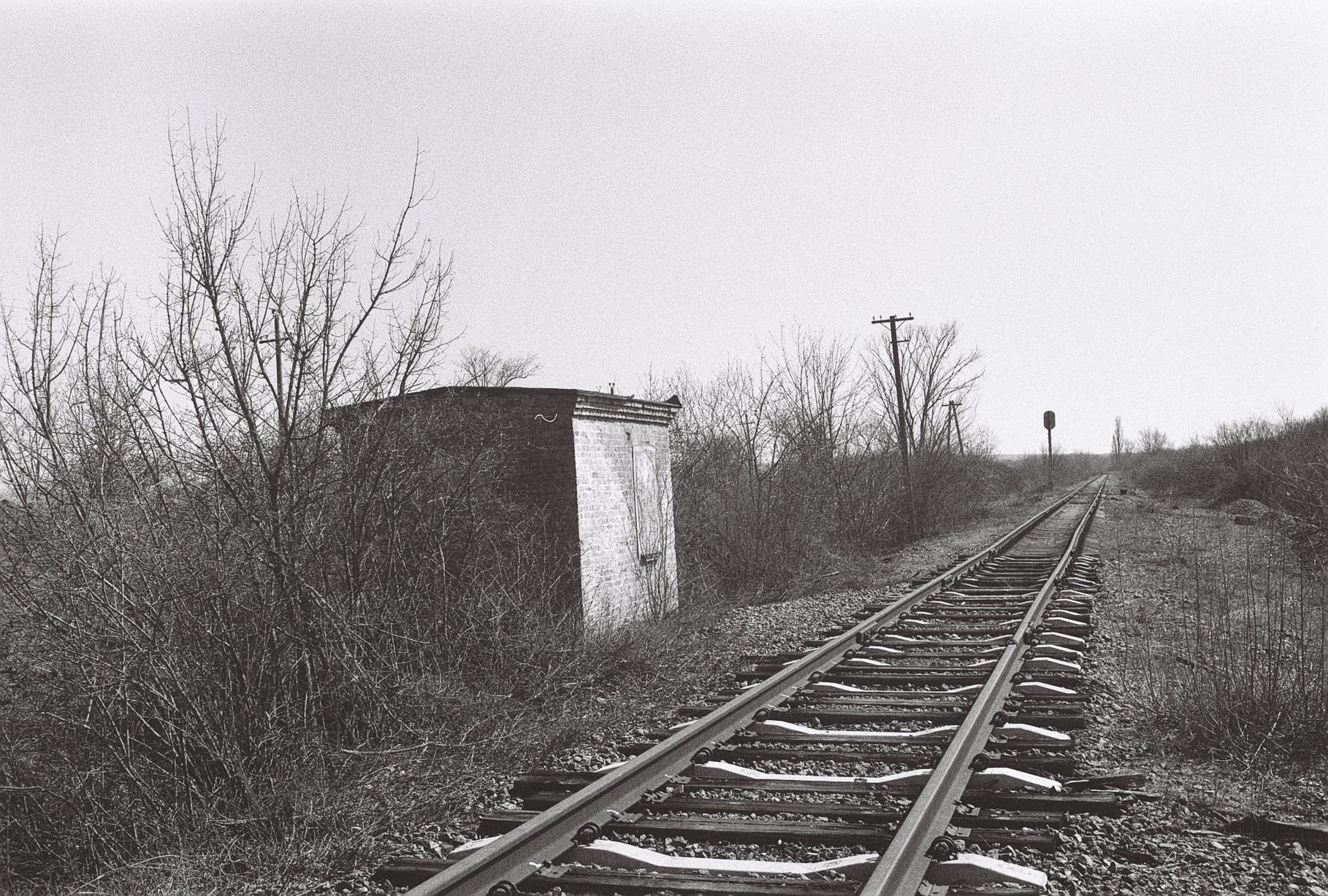 Стрілочний пост закритої станції Зименове, Одеська залізниця, недіюча гілка Мигаєве - Ротове. Одеська область